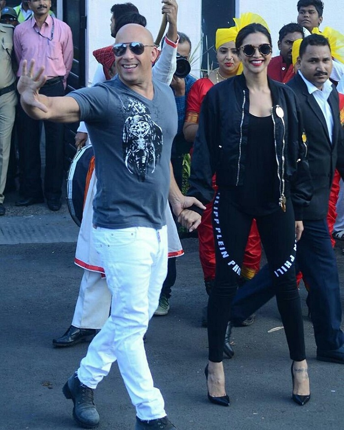 Vin Diesel Arrives In India With Deepika Padukone