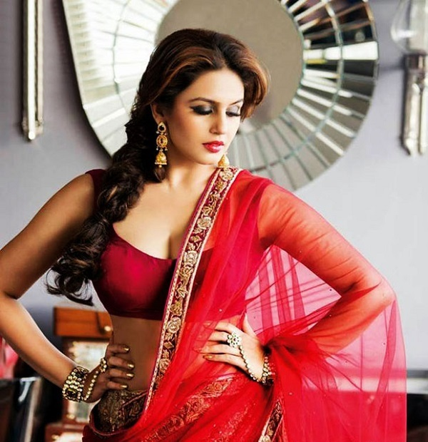 huma qureshi's hot in red