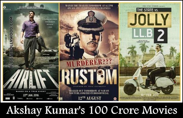 Akshay Kumar's 100 Crore Movies: From Jolly LLB 2 to Rowdy Rathore