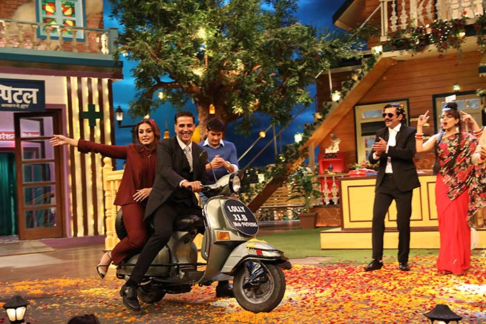 Akshay and Huma at TKSS 10