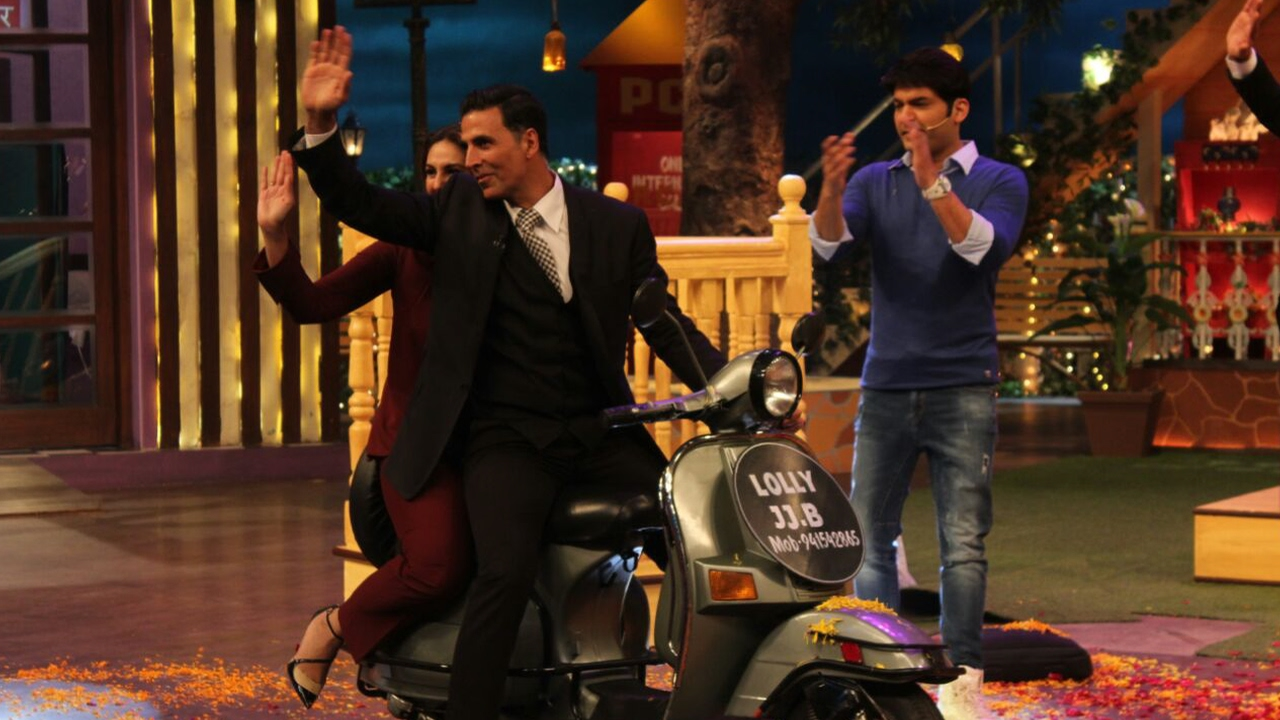 Akshay and Huma at TKSS 7