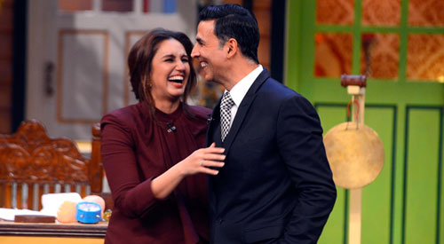 Akshay and Huma at TKSS 8