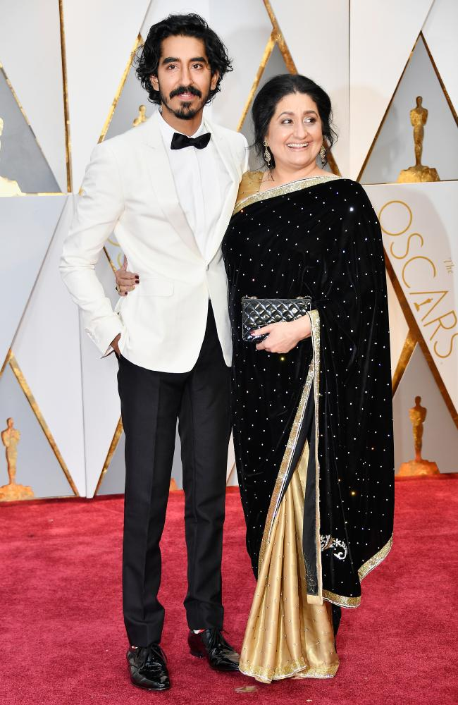 Dev Patel with his mother