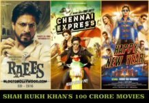 List Of Shah Rukh Khan's 100 Crore Movies