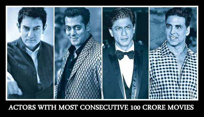 Actors With Most Consecutive 100 Crore Movies: Salman Khan, Shah Rukh Leads The Race