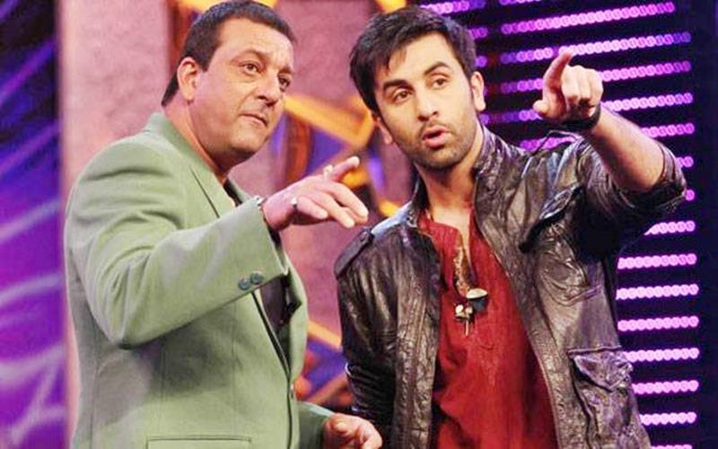 Here are some exclusive pics of Ranbir Kapoor as Sanjay Dutt from the biopic's set