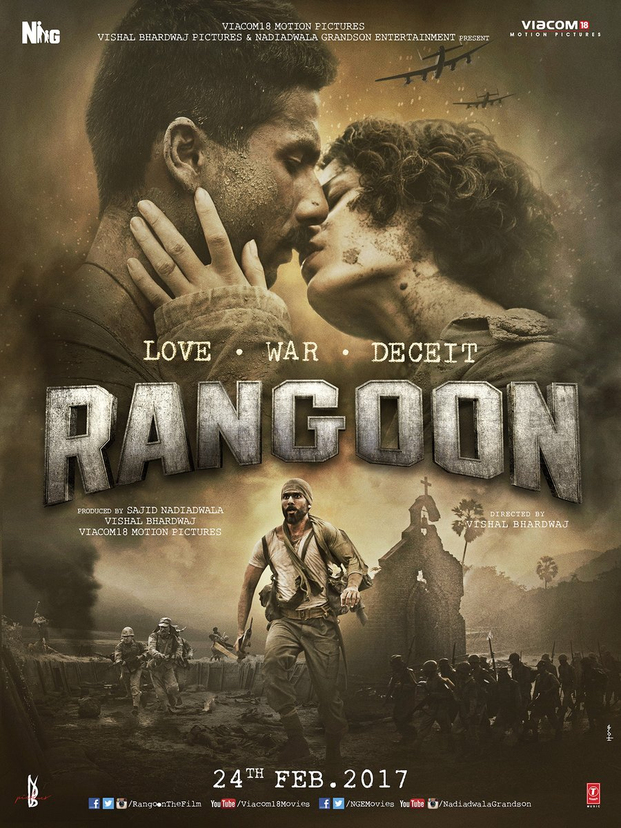Rangoon Movie Details: Star Cast, Release Date, Trailer, Video Songs, Box Office Collection & Latest Updates- Rangoon 1st Poster