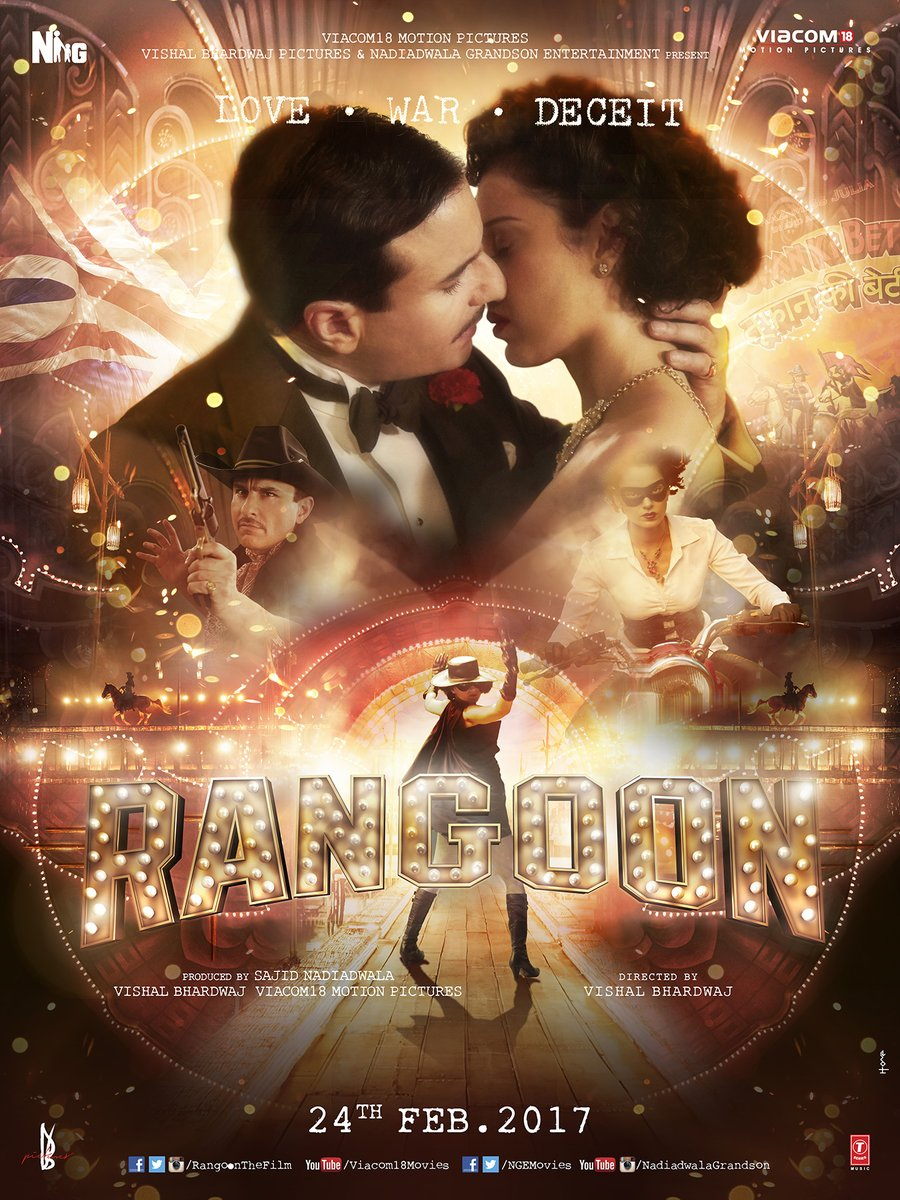 Rangoon Movie Details: Star Cast, Release Date, Trailer, Video Songs, Box Office Collection & Latest Updates- Rangoon 2nd Poster
