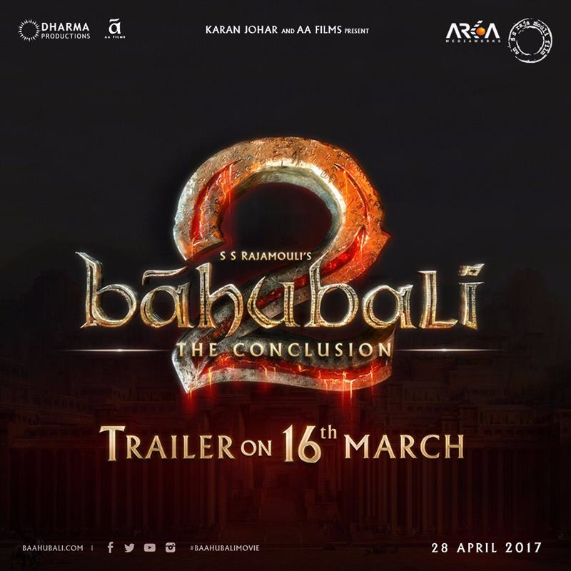 We have great news....Bahubali 2 Trailer out on 16 March!- Bahubali 2 trailer 1