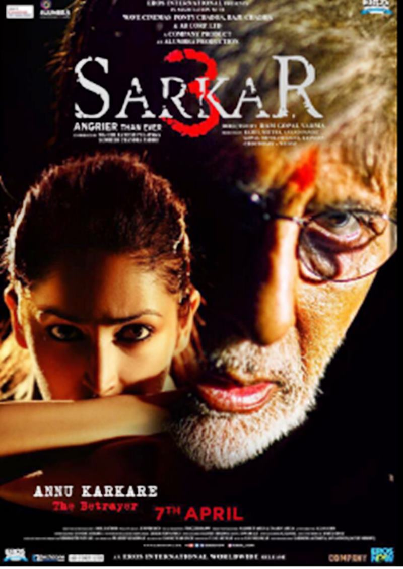 Amitabh Bachchan is back angrier than ever in Sarkar 3 First Look!- Sarkar 3 Poster 4