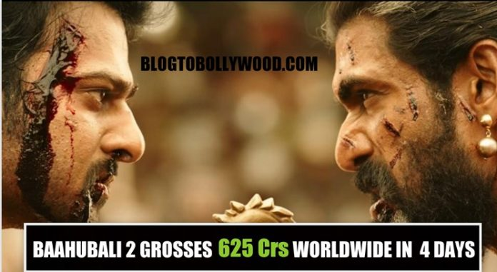 Baahubali 2 grosses 625 crores worldwide in four days