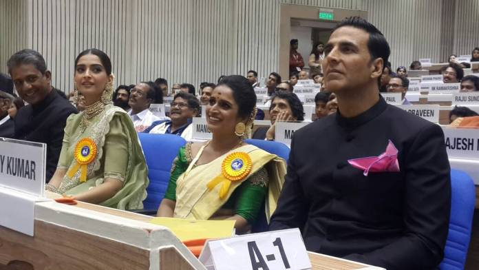 National awards ceremony - Akshay and Sonam kapoor