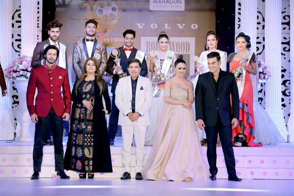 Bollywood Mr and Miss India organised by Studio 19 Films - Rajneesh Duggal, Mahima Chaudhary, Yash Ahlawat, Sana Khan and Arbaaz Khan with winners