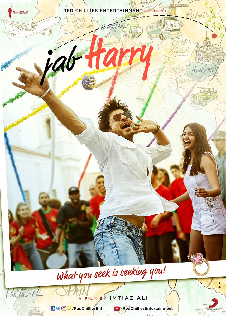 First look poster of Shah Rukh Khan's next titledJab Harry Met Sejal