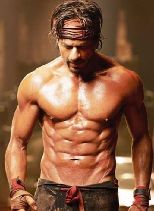 Shah Rukh Khan - fittest actors of Bollywood