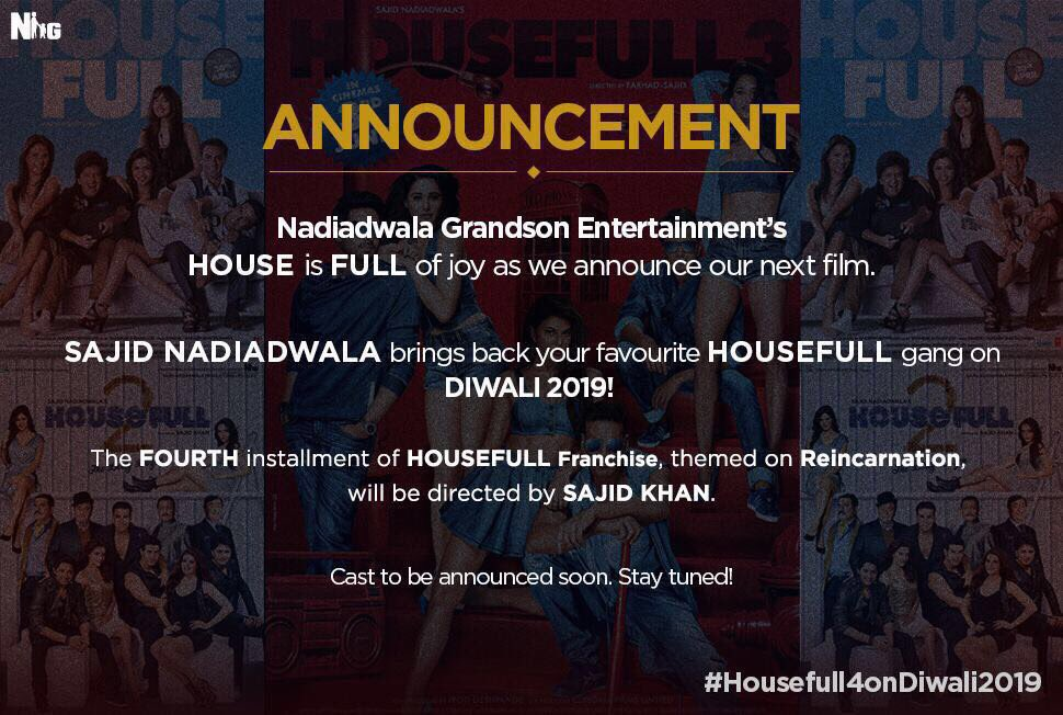 Housefull 4 announcement