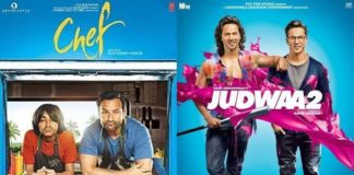 Judwaa 2 Second Weekend Collection, Chef First Weekend Collection