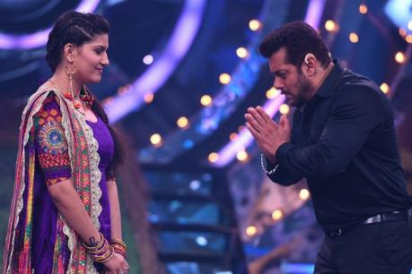 Sapna Choudhary and Salman
