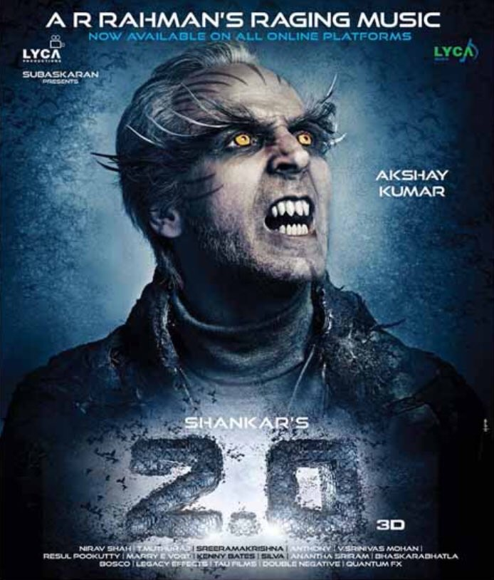 2.0 new poster featuring Akshay Kumar
