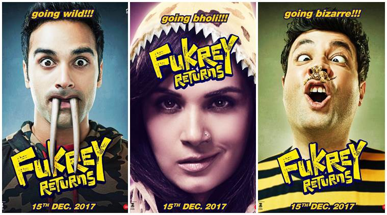 Fukrey Returns Poster feat Richa Chadda, Pulkit Samrat and Varun Sharma
