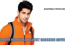 Highest grossing movies of Sidharth Malhotra