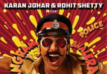 Simmba first look poster feat. Ranveer Singh