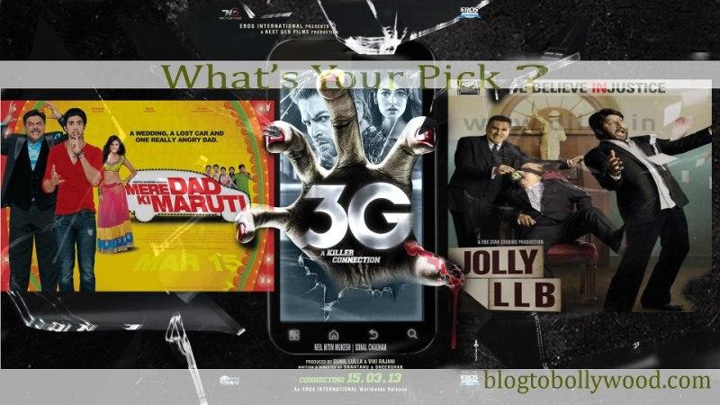 Jolly LLB vs 3G vs Mere Dad Ki Maruti expected Box Office Collections