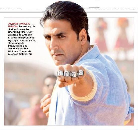Akshay Kumar back in action with Boss