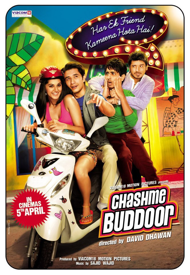 chashme baddoor movie Poster feat. Siddharth, Ali, Divyanshu and Tapsee
