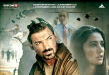 madras cafe poster feat. John Abraham and Nargis Fakhri