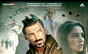 madras cafe poster feat. John Abraham and Nargis Fakhri