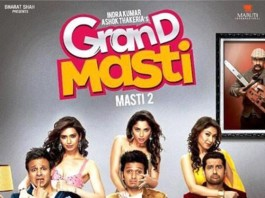 Grand Masti Movie Poster feat. Vivek, Riteish and Aftab
