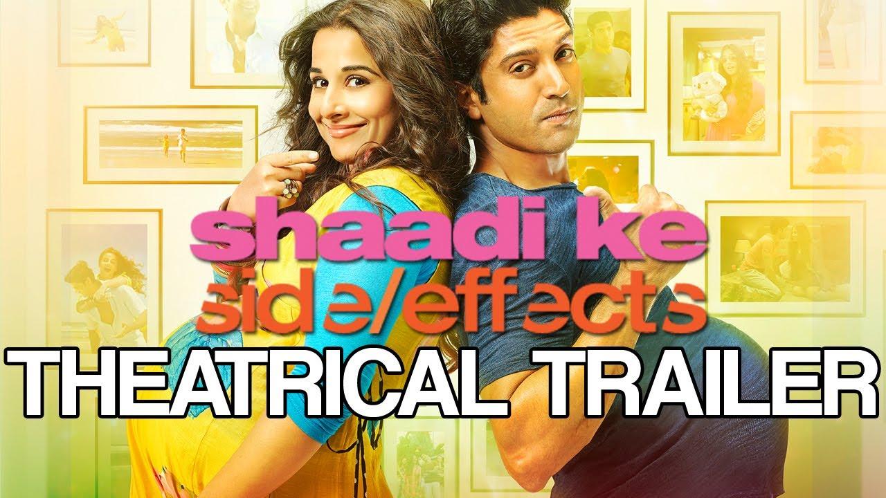 Theatrical Trailer Shaadi Ke Side Effects: Farhan & Vidya's Rocking Chemistry