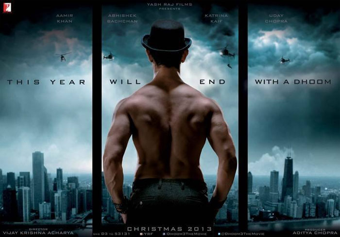 Highest Single Day Collection By Bollywood Movie - Dhoom 3 at third positionm 3 at top