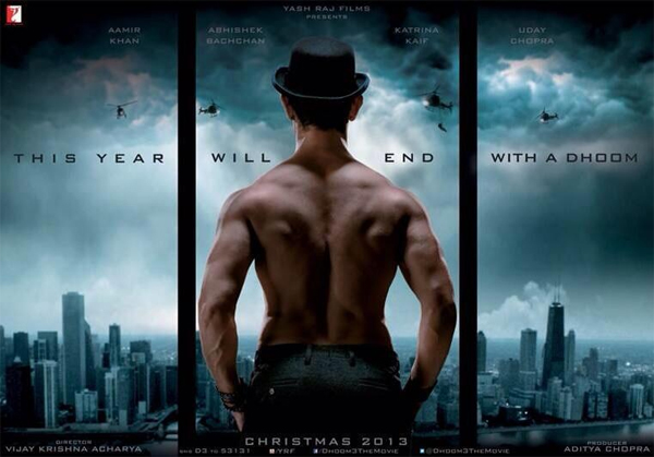 top 10 movies of bollywood 2013 - dhoom 3 at top of the list