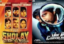 Sholay 3D vs Mr. Joe B Carvalho : This week at Box Office