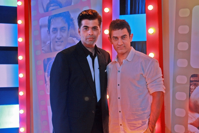 Karan Johar and Aamir Khan