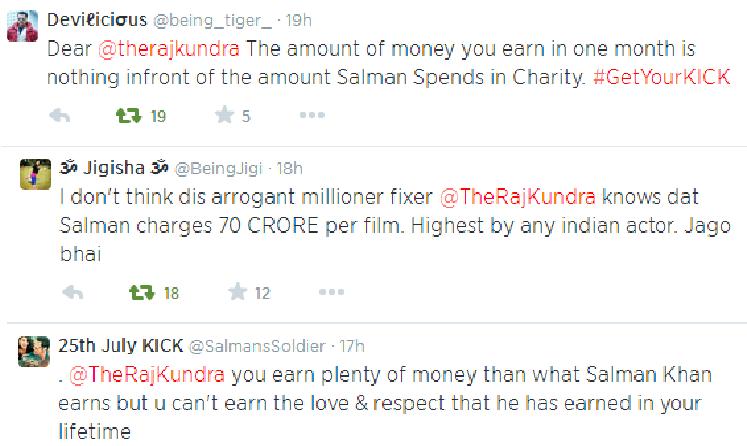 Salman fans slam Raj Kundra on Twitter