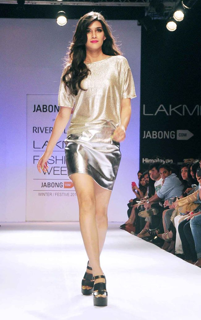 Kriti Sanon wore a metallic outfit of River Island