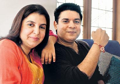 Bollywood brothers and sisters : Sajid Khan with sister Farah Khan