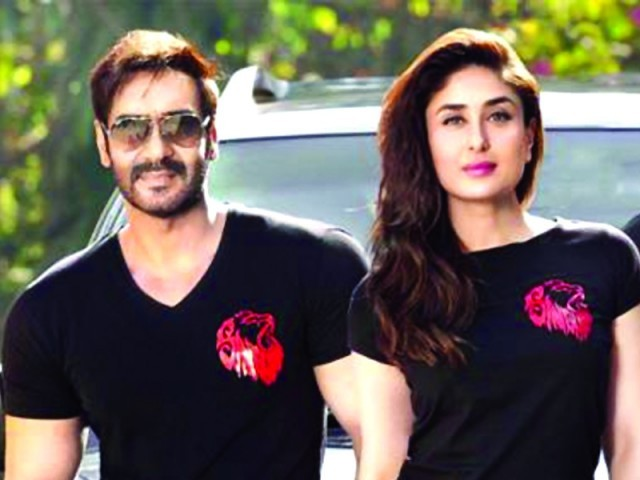 Kareena Kapoor Khan and Ajay Devgn back onscreen with Singham Returns