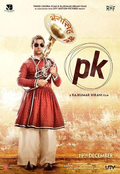 PK second Poster -  Aamir Khan as Bandwaala.