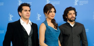 Ritesh Sidhwani with Farhan Akhtar and Priyanka Chopra