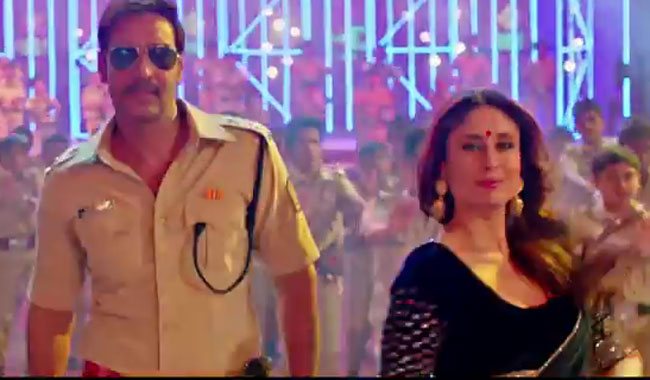 "Ajay Devgn and Kareena Kapoor Khan in the ""Aata maajhi satakli"" video song"