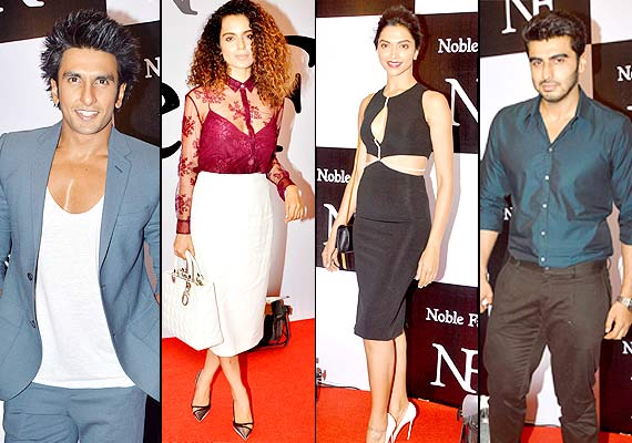 Ranveer Singh, Kangana Ranaut, Deepika Padukone And Arjun Kapoor at the bash