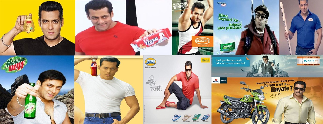 Few of the brands endorsed by Salman Khan