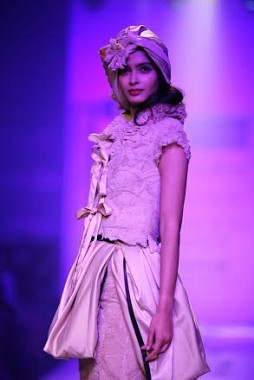 Diana Penty wears the first outfit designed by Rocky S