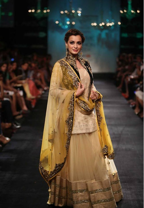 Dia Mirza walks for close friend Vikram Padhnis