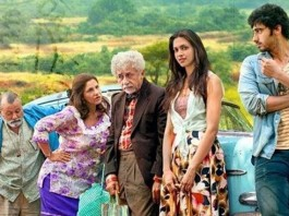 Finding Fanny Poster featuring the lead starcast