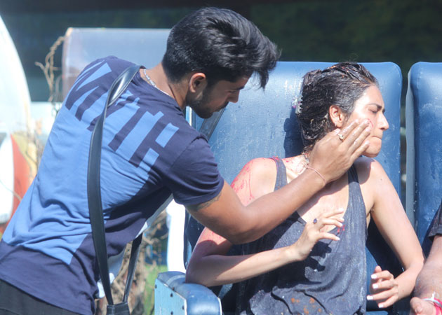 Bigg Boss 8 Day 8 highlights -  Gautam Gulati abuses Karishma Tanna during task